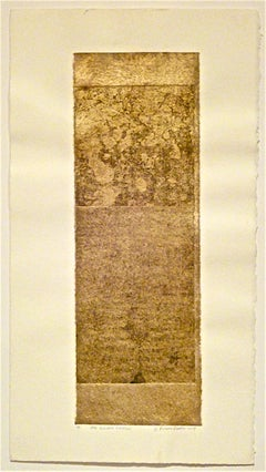 Suzanne Benton_The Golden Shadow_2004_ etching with chine colle__ 12 x 4 inches