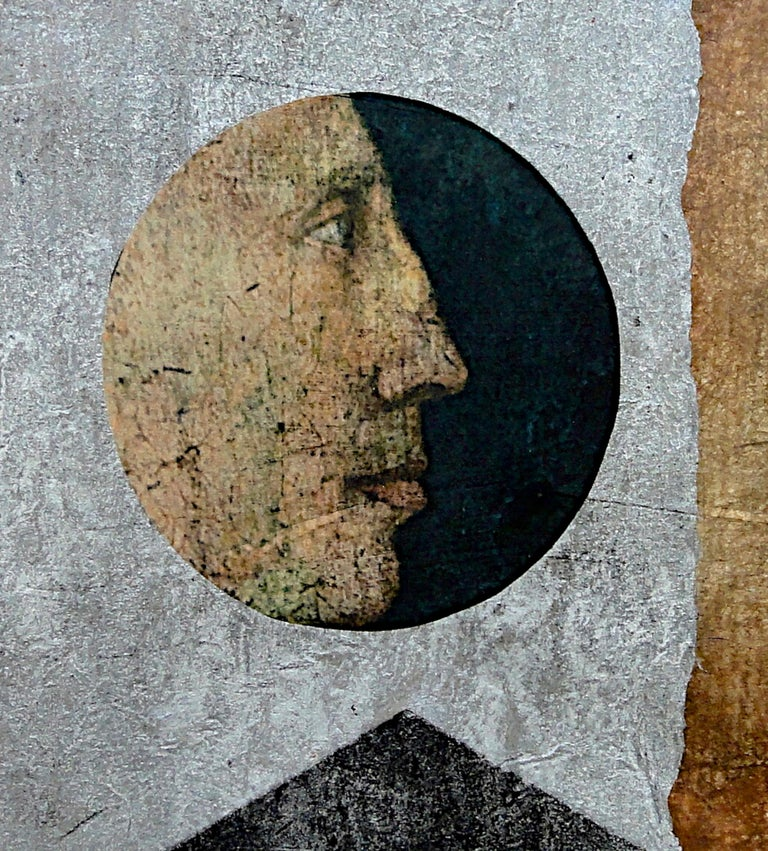 Suzanne Benton_Visionary_2013_ monoprint with Chine collé_ 9 ¼ x11 ¾ in - Feminist Print by Suzanne Benton