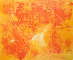 Untitled Abstract Composition in Orange #9893