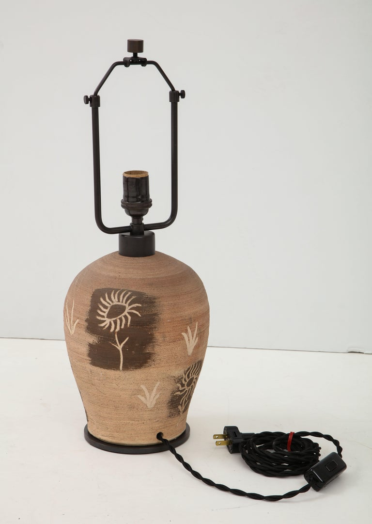 French Suzanne Guiguichon Ceramic Table Lamp For Sale