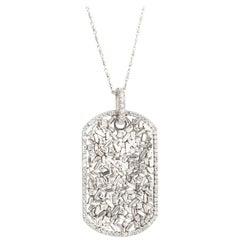 Suzanne Kalan Large Diamond Dog Tag Necklace