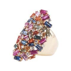 Suzanne Kalan Rainbow Shield Ring