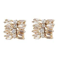 Suzanne Kalan Staggered Diamond Earrings