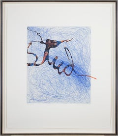 """""""Mankind,"""" Intaglio on Digital Inkjet Graphic signed by Suzanne McClelland"""