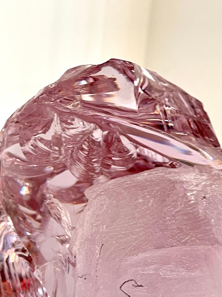 Suzanne Pascal Carved Slag Glass Bust 1