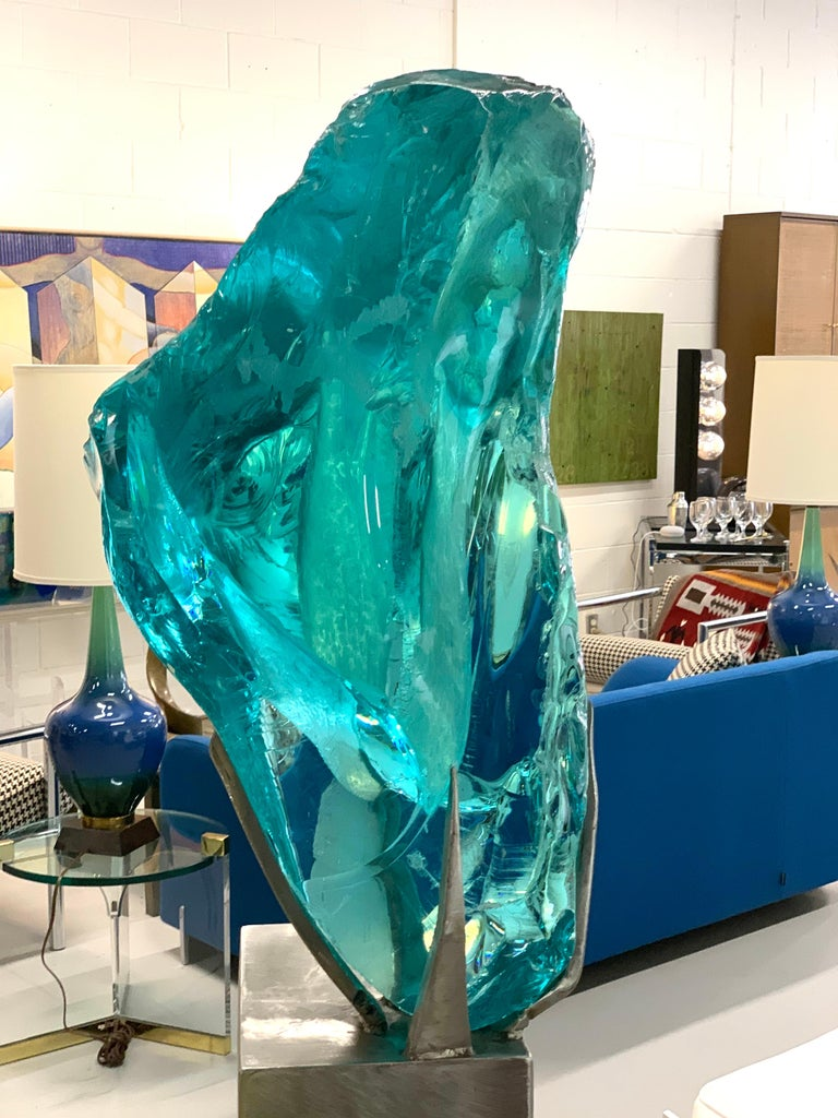 Suzanne Pascal Life-Size Glass Sculpture For Sale 3