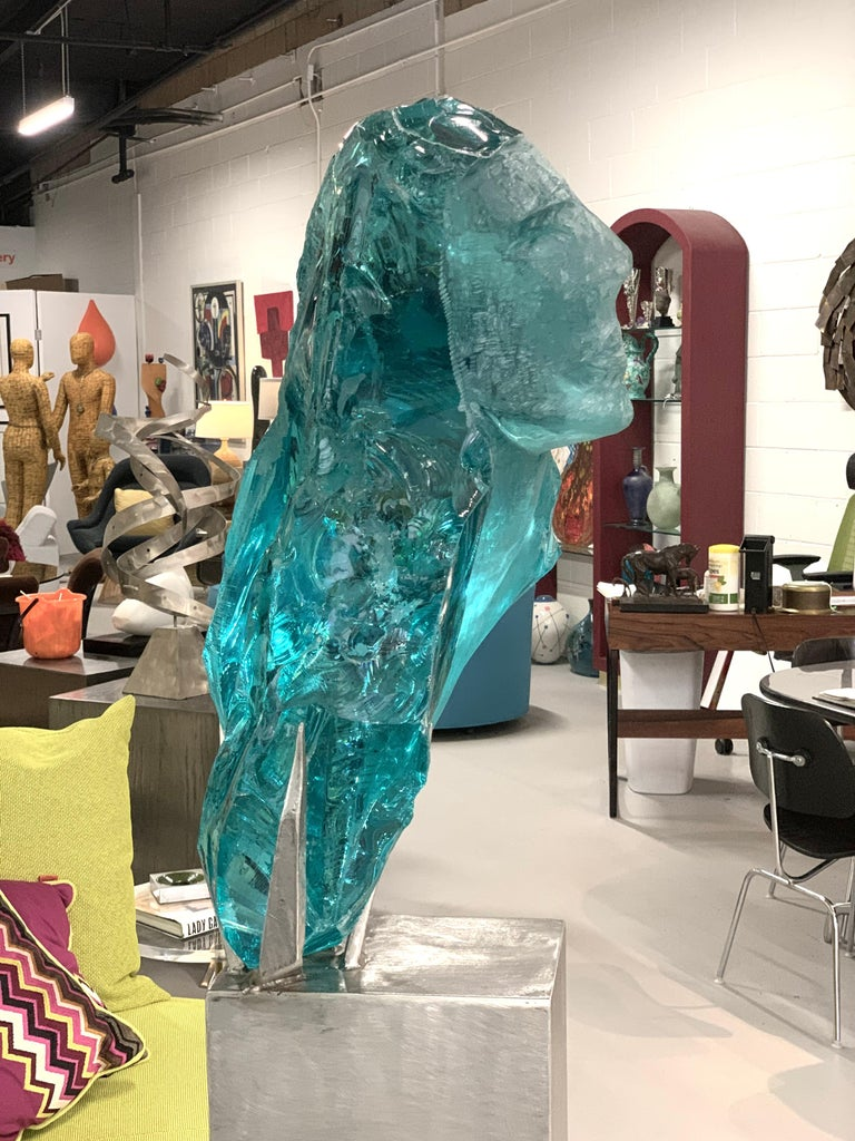 American Suzanne Pascal Life-Size Glass Sculpture For Sale