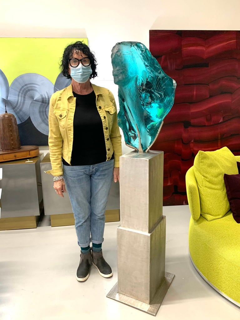 Suzanne Pascal Life-Size Glass Sculpture In Good Condition For Sale In Palm Springs, CA