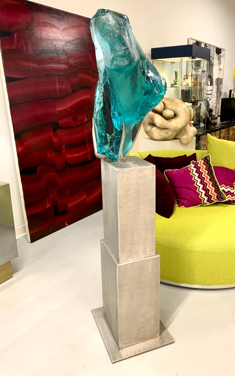 Suzanne Pascal Life-Size Glass Sculpture For Sale 2