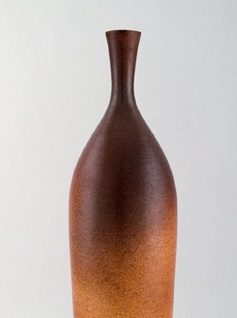 Modern Suzanne Ramie for Atelier Madoura, Large Vase in Glazed Stoneware For Sale