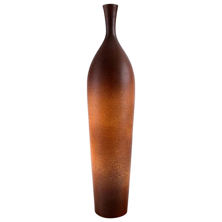 Suzanne Ramie for Atelier Madoura, Large Vase in Glazed Stoneware For Sale