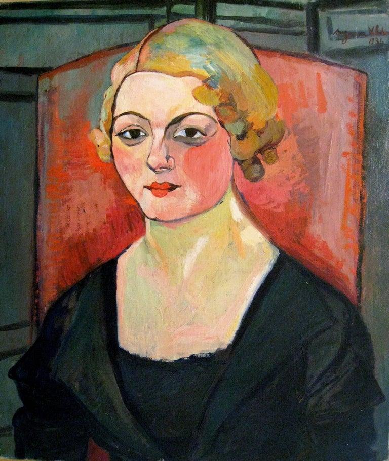 "Suzanne Valadon ""Portrait de Genevieve Camax-Zoegger"" 1936, Oil on Canvas"