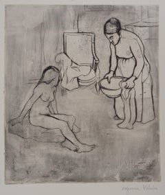 Grandmother and Nude Louise - Original handsigned etching