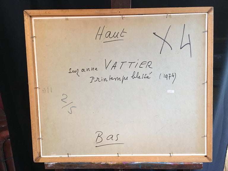 'Haut' Impressionist 1970s Abstract Oil Painting, Signed  For Sale 3