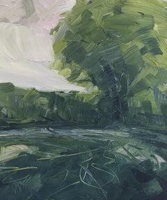 Suzanne Winn, The Hedgerow, Original Landscape Painting, Affordable Art