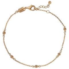 Suzy Levian 14 Karat Rose Gold 0.15 Carat Brown Diamond Station Bracelet