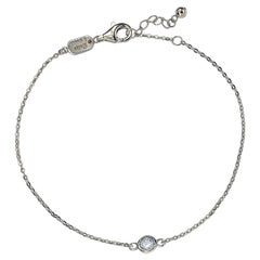 Suzy Levian 14K White Gold 0.25 Carat White Diamond Solitaire Bracelet