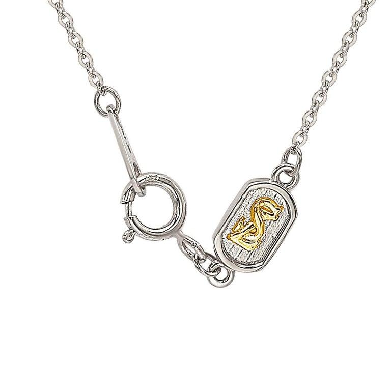 Contemporary Suzy Levian 14K White Gold White Diamond Halo Pendant For Sale