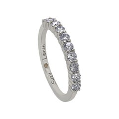 Suzy Levian 14K White Gold Ten-Diamond Half Eternity Band