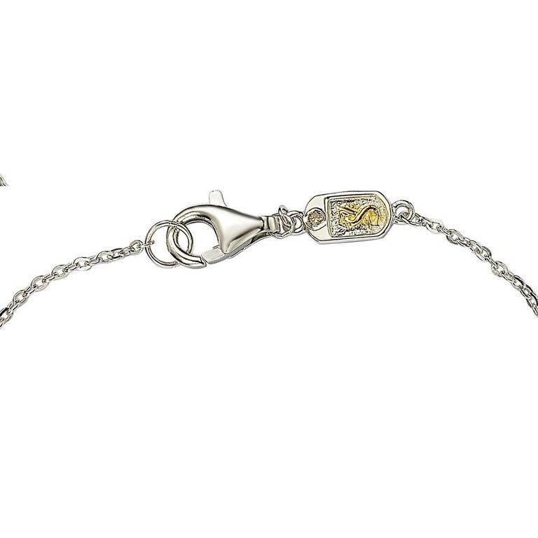 Contemporary Suzy Levian Sterling Silver Bezel Set Sapphire Station Bracelet For Sale