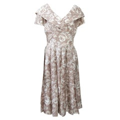Suzy Perette Silk Print Dress
