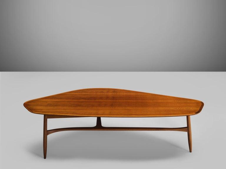 Danish Svante Skogh Freeform Coffee Table in Walnut