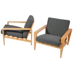 Svante Skogh Pair of Bodö Armchairs by Seffle Möbelfabrik made in Sweden 1960's
