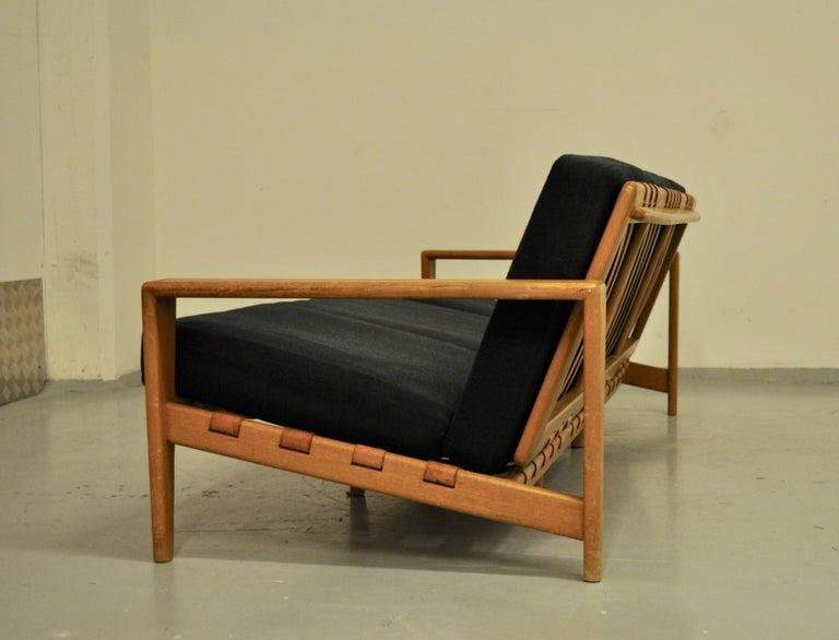 Scandinavian Modern Svante Skogh Sofa Leather Structure, 1950 For Sale