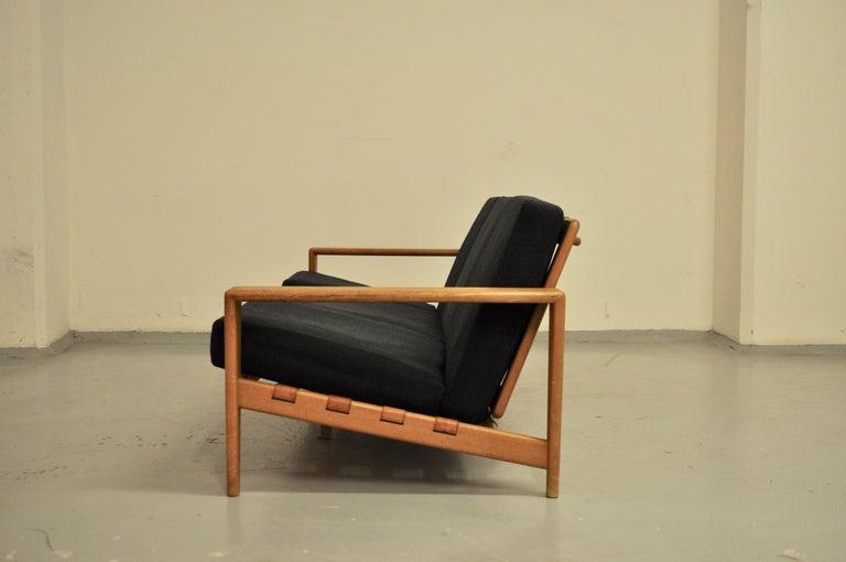 Swedish Svante Skogh Sofa Leather Structure, 1950 For Sale