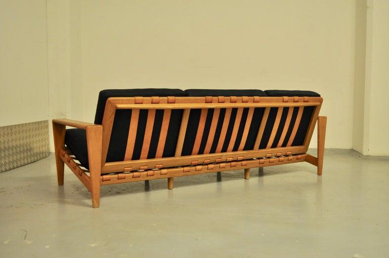 Mid-20th Century Svante Skogh Sofa Leather Structure, 1950 For Sale