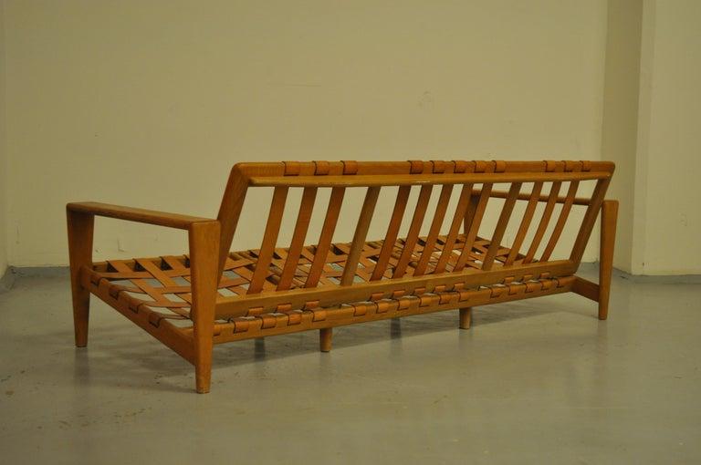 Svante Skogh Sofa Leather Structure, 1950 For Sale 2
