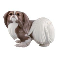 Sveistrup Madsen for Bing & Grøndahl, Porcelain Figure, Standing Pekingese