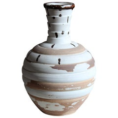 Sven Bolin, Sizable Unique Studio Vase, Glazed Stoneware, Höganäs, Sweden, 1960s