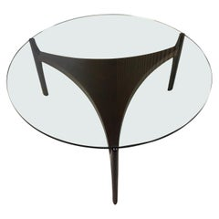 Sven Ellekaer Danish Glass and Teak Coffee Table