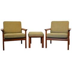 Sven Ellekaer Teak Lounge Chairs, Set of Two
