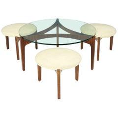 Sven Ellekaer Three Leg Coffee Table and Three Stools Christian Linneberg