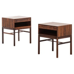Sven Engström & Gunnar Myrstrand Side / Bedside Tables by Tingströms in Sweden