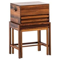 Sven Engström & Gunnar Myrstrand Side Table with Storage Box by Källemo