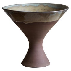 Sven Hofverberg, Vase, Semi-Glazed Stoneware, Artists Studio, Sweden, 1970s
