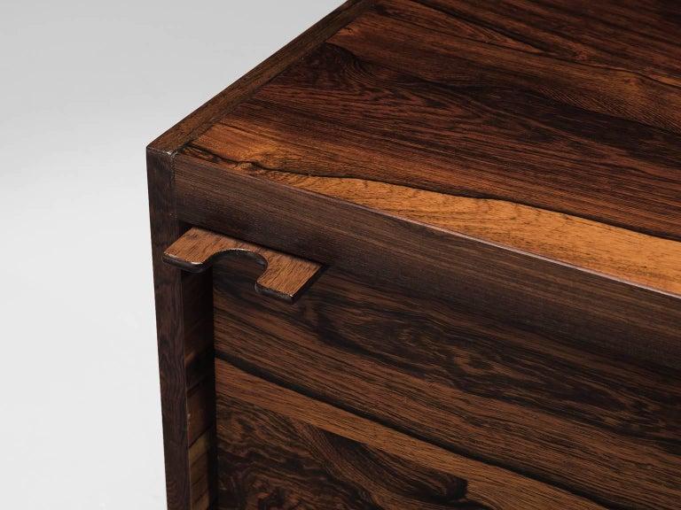 Sven Ivar Disten Restored Corner Desk in Leather and Rosewood For Sale 2