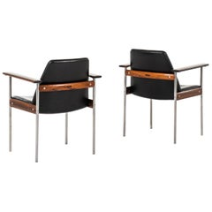 Sven Ivar Dysthe Armchairs Model 1001 Produced by Dokka Møbler in Norway