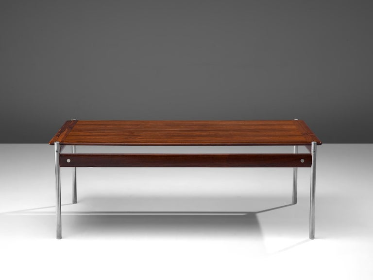 Scandinavian Modern Sven Ivar Dysthe Coffee Table in Rosewood For Sale