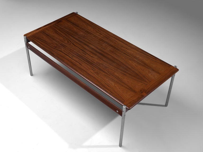 Norwegian Sven Ivar Dysthe Coffee Table in Rosewood For Sale