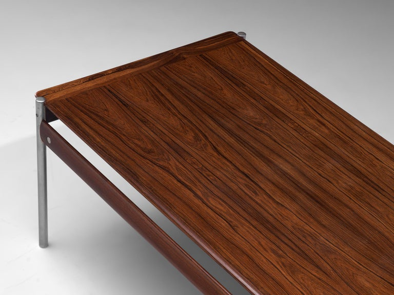 Sven Ivar Dysthe Coffee Table in Rosewood In Good Condition For Sale In Waalwijk, NL