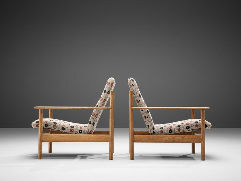 Scandinavian Modern Sven Ivar Dysthe for Dokka Møbler Pair of Lounge Chairs in Charles&Ray Eames Fab For Sale