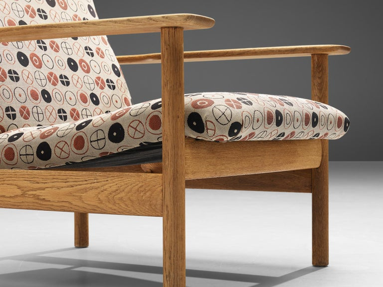 Norwegian Sven Ivar Dysthe for Dokka Møbler Pair of Lounge Chairs in Charles&Ray Eames Fab For Sale