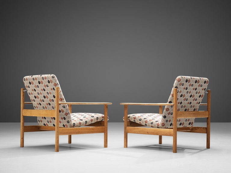Sven Ivar Dysthe for Dokka Møbler Pair of Lounge Chairs in Charles&Ray Eames Fab In Good Condition For Sale In Waalwijk, NL