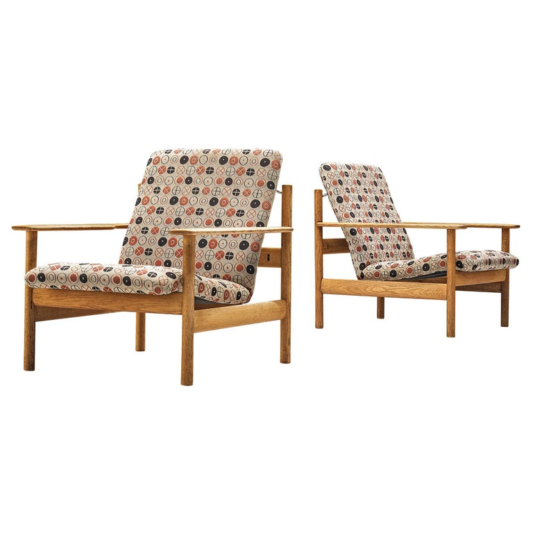 Sven Ivar Dysthe for Dokka Møbler Pair of Lounge Chairs in Charles&Ray Eames Fab For Sale