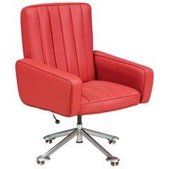 Sven Ivar Dysthe Leather Office Chair for Dokka Møbler