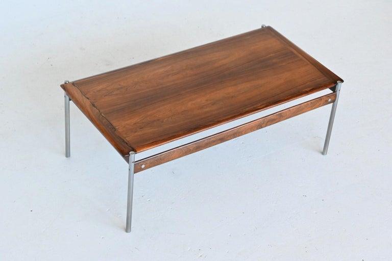 Sven Ivar Dysthe Model 1001 Rosewood Coffee Table Dokka Mobler, Norway, 1959 For Sale 4